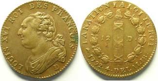 1792 D Münzen aus der französischen Revol...