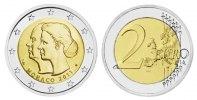 2 Euro Monaco -  Hochzeit Fürst Albert II. 2011 bfr 25,75 mm, 8,50g