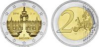 2 2016 D  2 Euro Deutschland 2016 - Dresdner Zwinger - Sachsen Münzzeic... 2,90 EUR