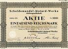 SCHEIDEMANDEL-MOTARD-WERKE AG - Scheidemandel-Motard-Werke Aktienges... 9,00 EUR  zzgl. 3,90 EUR Versand