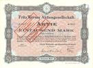 Aktie   FRITZ WERNER A.G. BERLIN - Fritz Werner Aktiengesellschaft. Ber... 9,00 EUR  zzgl. 3,90 EUR Versand