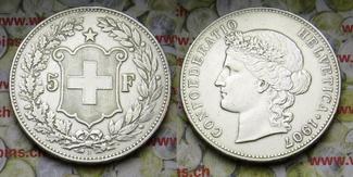 5 Fr. 1907 Schweiz  ss