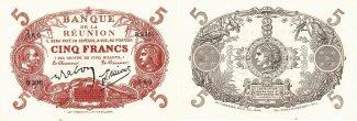 Reunion 5 Francs 1901 kassenfrisch 5 Franc...