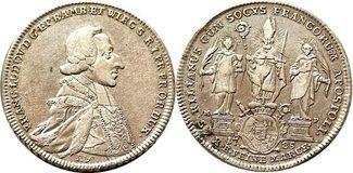 Taler 1785 Würzburg 1 Konventionstaler 178...
