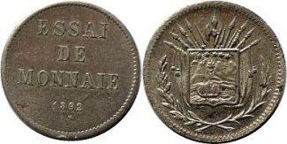 centavos 1892 Costa Rica 5 centavos 1892 C...