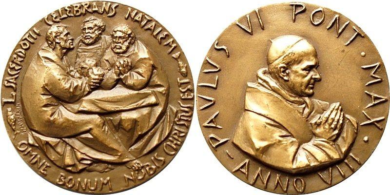 Medaille Vatikan -paulus Vi 20 Jh Bronze