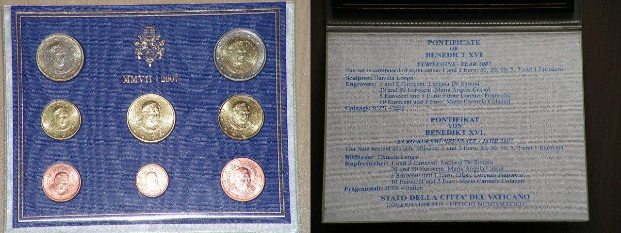 Original Kms Vatikan 2007 -- Euro