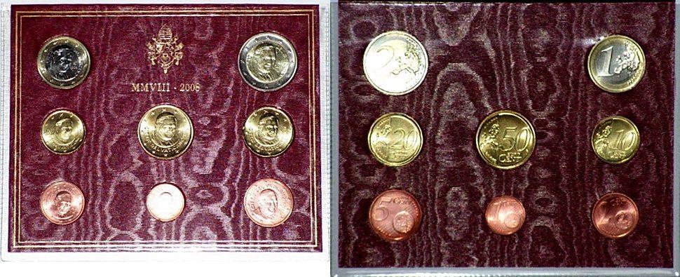 Original Kms Vatikan 2008 -- stempelglanz