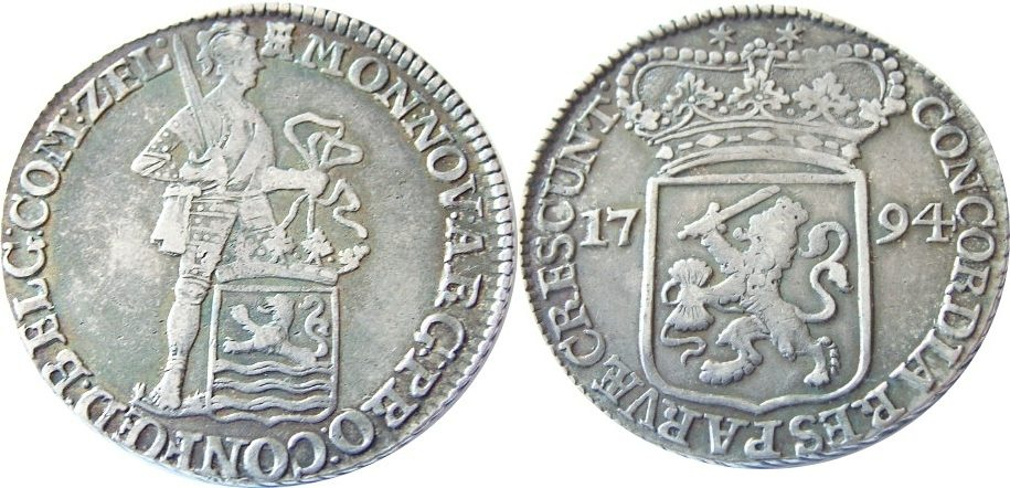 1 Silberdukat 1794 -- Niederlande --