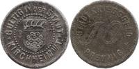 10 Pf 1917, Kirchheim/Teck (Württemberg) - Stadt,  korrodiert, vz  2,50 EUR  zzgl. 3,50 EUR Versand
