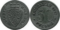50 Pf 1917 Wald (Rheinprovinz) - Stadt,  etwas korrod., vz  6,00 EUR  zzgl. 3,50 EUR Versand