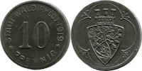 10 Pf 1919 Wald (Rheinprovinz) - Stadt,  etwas korrod. u. Rost, vz  4,00 EUR  zzgl. 3,50 EUR Versand
