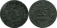 25 Pf 1918 Gronau (Westfalen) - Stadt,  Av etwas korrod., vz-  8,00 EUR  zzgl. 3,50 EUR Versand