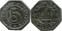 5 Pf 1919, Hamm (Westfalen) - Stadt,  etwas korrod., ss-vz  14,00 EUR  zzgl. 3,50 EUR Versand