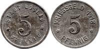 5 Pf 1918, Loslau (Schlesien) - Stadt,  korrodiert, Rostspuren, ss  3,00 EUR  zzgl. 3,50 EUR Versand