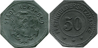 50 Pf o. J. Hersfeld (Hessen-Nassau) - Stadt,  Av Stf. u. etwas korrod.... 7,00 EUR  zzgl. 3,50 EUR Versand