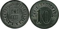 10 Pf 1917 Speyer (Rheinprovinz) - Stadt,  zaponiert, ss  1,50 EUR  zzgl. 3,50 EUR Versand