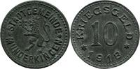 10 Pf 1918 Munderkingen (Württemberg) - Stadt,  ss-vz  8,00 EUR  zzgl. 3,50 EUR Versand