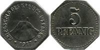 5 Pf 1917, Warburg (Westfalen) - Kreis,  Av minim. Rostspur, Stbr., ss  3,50 EUR  zzgl. 3,50 EUR Versand