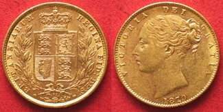 1870 England GROSSBRITANNIEN Sovereign 18...