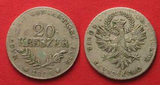 Haus Habsburg  1809 ss TIROL 20 Kreuzer 18...