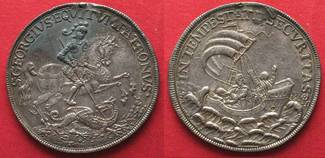 1645-90 Ungarn KREMNITZ Georgstaler o.J.(...