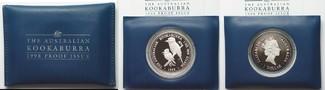 1998 Australien 1 oz Silber AUSTRALIAN KO...