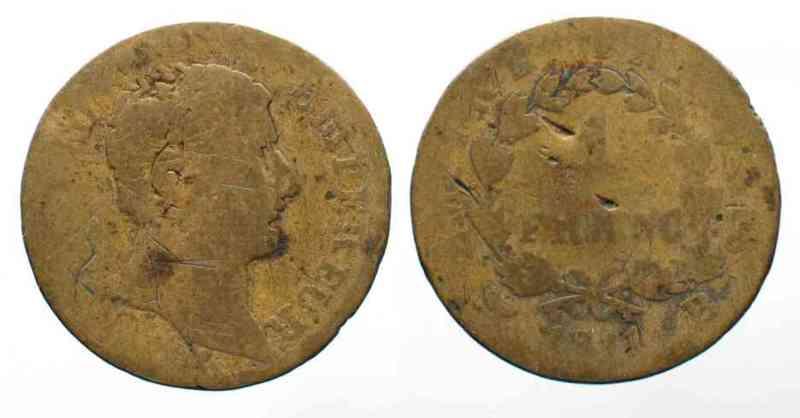 1811 Frankreich - Fälschungen FRANCE 1 Franc 1811 B NAPOLEON I - FAUX D'EPOQUE - # 54430 sge-s