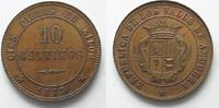 1873 Andorra ANDORRA Probe 10 Centimos 18...