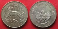 Indonesien  INDONESIEN 2000 Rupiah 1974 Tiger WWF Silber # 94042