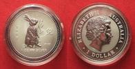 1999 Australien 1 Unze pures Silber JAHR DES HASEN 1 Dollar 1999 Lunar... 79,99 EUR  zzgl. 4,50 EUR Versand