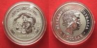 2000 Australien 1 Unze pures Silber JAHR DES DRACHEN 1 Dollar 2000 Lun... 79,99 EUR  zzgl. 4,50 EUR Versand