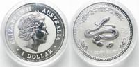 2001 Australien 1 Unze pures Silber JAHR DER SCHLANGE 1 Dollar 2001 Lu... 84,99 EUR  zzgl. 4,50 EUR Versand