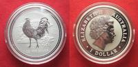 2005 Australien 1 Unze pures Silber JAHR DES HAHNES 1 Dollar 2005 Luna... 79,99 EUR  zzgl. 4,50 EUR Versand