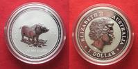 2007 Australien 1 Unze pures Silber JAHR DES SCHWEINES 1 Dollar 2007 L... 64,99 EUR  zzgl. 4,50 EUR Versand