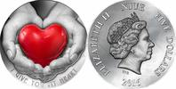 Niue  2016 Antique Finish Niue 5 $ 2016 I GIVE YOU MY HEART EMOTION Silb... 189,99 EUR  zzgl. Versand
