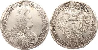 Doppeltaler 1711-1740 Haus Habsburg Karl V...