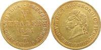 V Taler Gold 1821  B Braunschweig - Calenberg - Hannover Georg IV. 1820... 875,00 EUR gratis verzending
