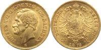 20 Mark Gold 1873  E Sachsen Johann 1854-1...