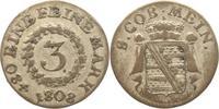 3 Kreuzer 1808 Sachsen-Meiningen Bernhard Erich Freund 1803-1866. Sehr ... 50,00 EUR  plus 5,00 EUR verzending