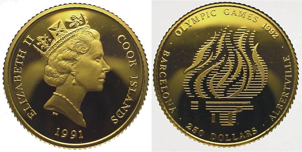 Elizabeth Ii seit 1952 Cook Islands 250 Dollars Gold 1991