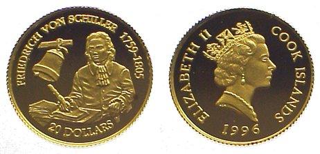 Elizabeth Ii seit 1952 Cook Islands 20 Dollars Gold 1996