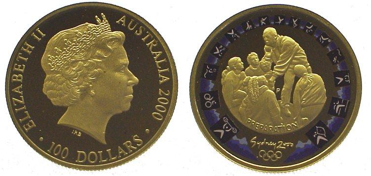 Elizabeth Ii seit 1952 Australien 100 Dollars Gold 2000