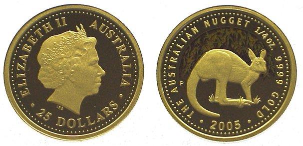 Elizabeth Ii seit 1952 Australien 25 Dollars Gold 2005