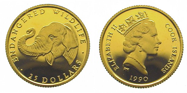 Elizabeth Ii seit 1952 Cook Islands 25 Dollars Gold 1990