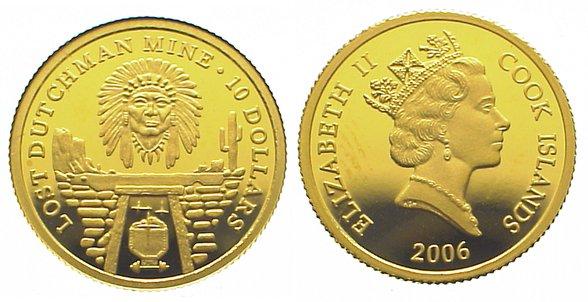 Elizabeth Ii seit 1952 Cook Islands 10 Dollars Gold 2006