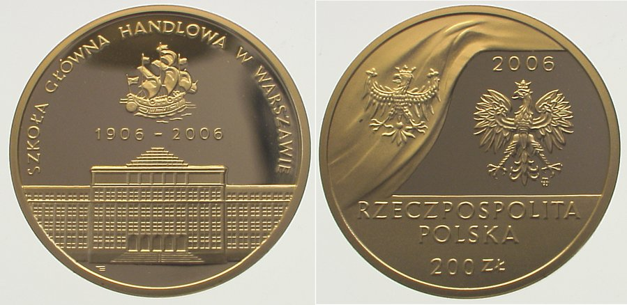 Republik nach 1989 Polen 200 Zloty Gold 2006