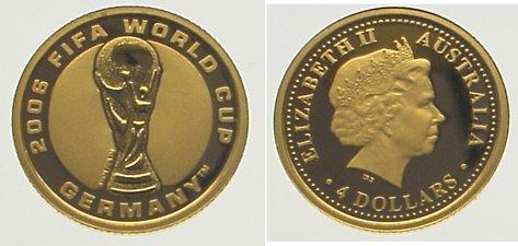 Elizabeth Ii seit 1952 Australien 4 Dollars Gold 2006