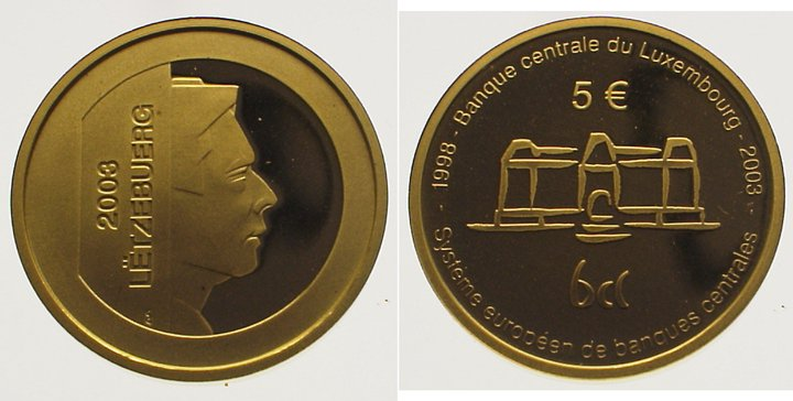 Henry seit 2000 Luxemburg 5 Euro Gold 2003