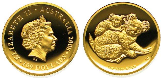 Elizabeth Ii seit 1952 Australien 100 Dollars Gold 2008